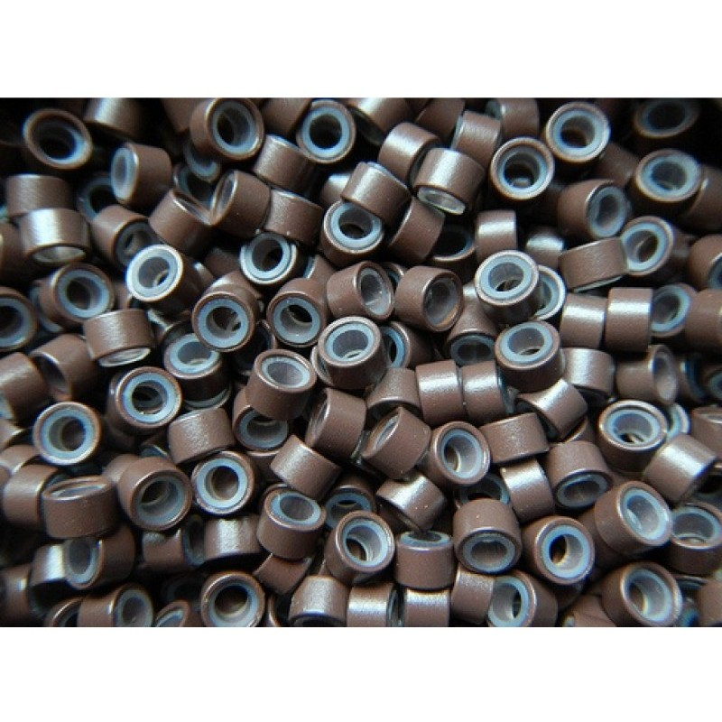Mikro inel cu silicon - Maro - 4.5 mm - 100 buc