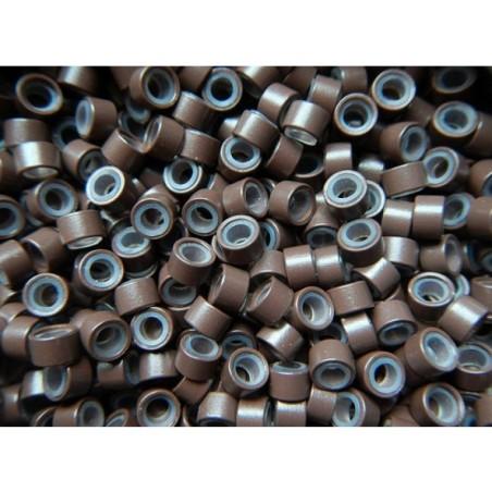 Mikro inel cu silicon - Maro inchis - 4.5 mm - 100 buc