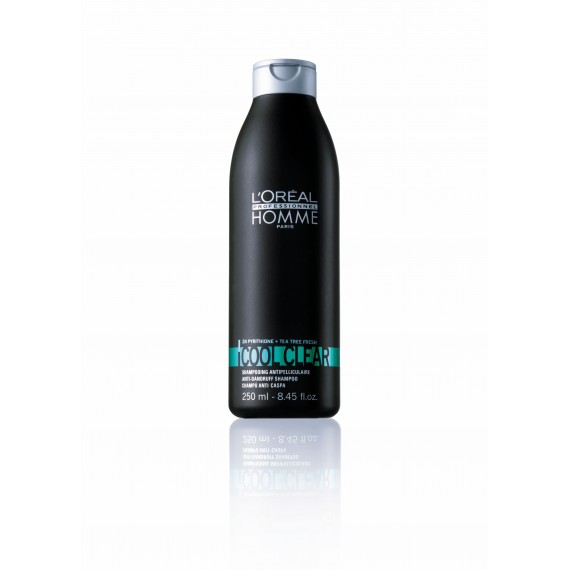 Sampon anti-matreata pentru barbati l'oreal professionnel homme cool clear, 250ml