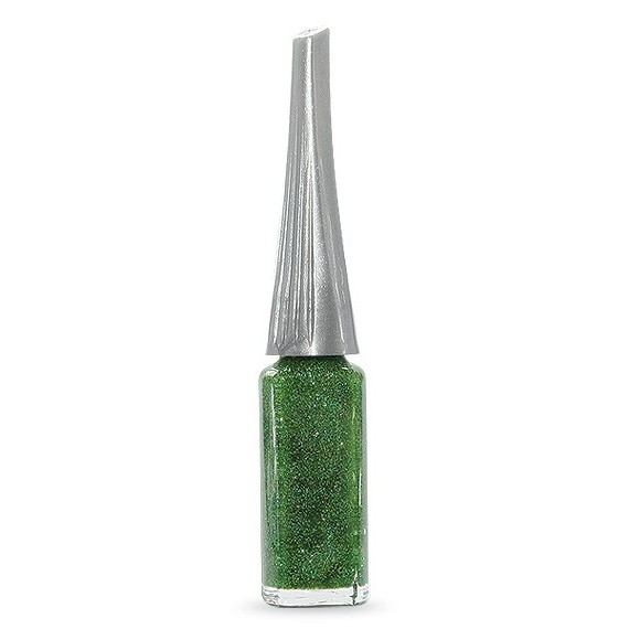 Moyra - Lac decor cu pensula subtire - Verde cu sclipici - 8 ml