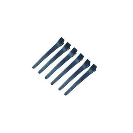 Eurostil clame de par plastic negre - set 6 buc. - 02526