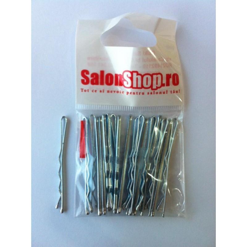 Salonshop- Agrafe de par argintii 5cm, 20buc