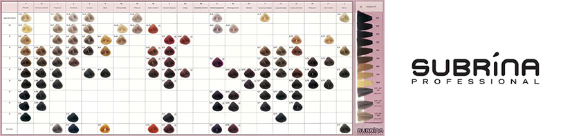 Subrina Color Chart